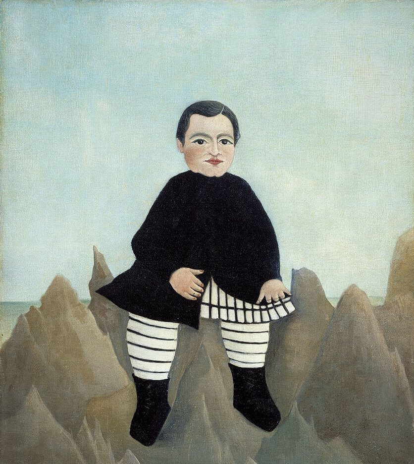 Boy on the Rocks, 1895 by Henri Rousseau