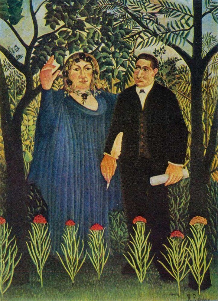 The Muse Inspires the Poet, 1909 by Henri Rousseau